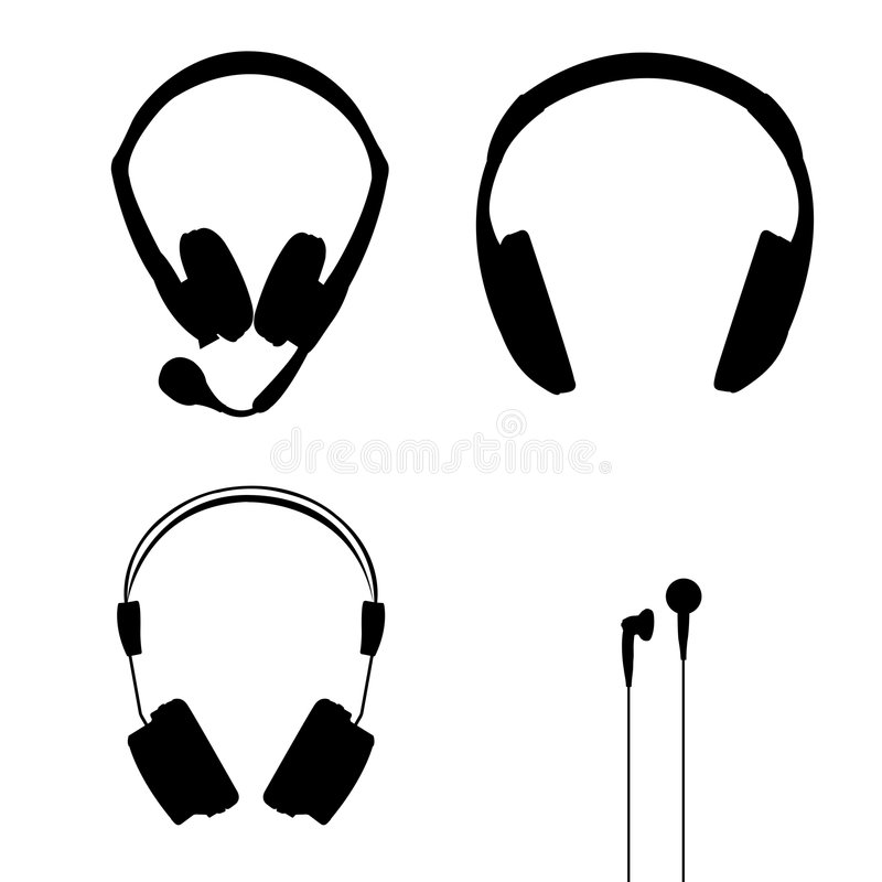 De vector van hoofdtelefoons royalty-vrije illustratie