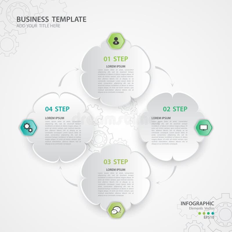De vector van Infographicelementen voor zaken, Webpictogram, presentatie, dia, diagram, grafiek, grafiek vector illustratie
