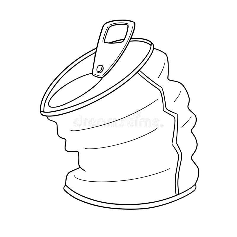 De vector van kan royalty-vrije illustratie