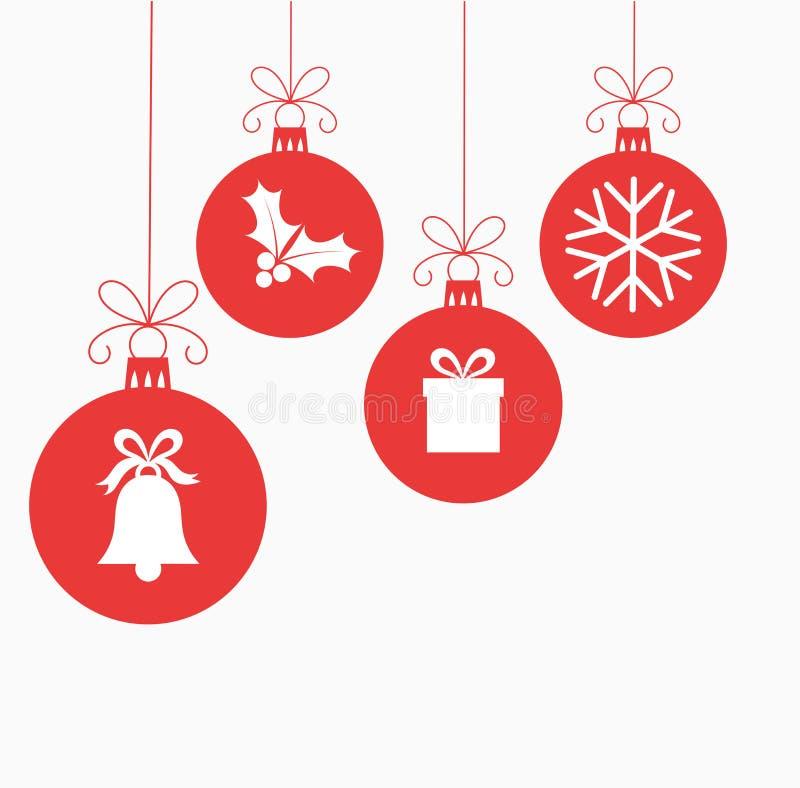 De vector van Kerstmisballen royalty-vrije illustratie