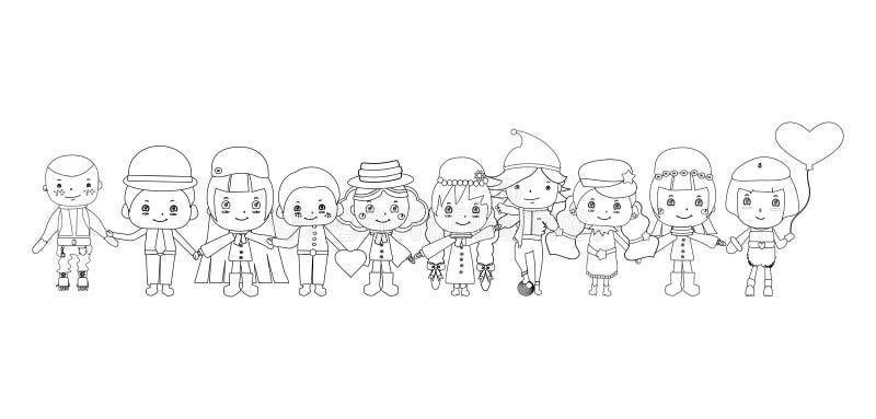 De vector van kinderenschetsen royalty-vrije illustratie