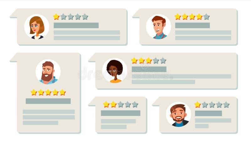 De Vector van de klantenterugkoppeling Het sorteren van Systeem Het bedrijfskwaliteitswerk Positief, Negatief Overzicht Huldeblij stock illustratie