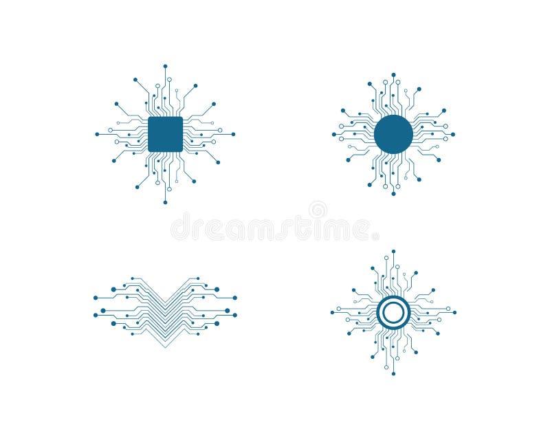 de vector van de kringstechnologie royalty-vrije illustratie