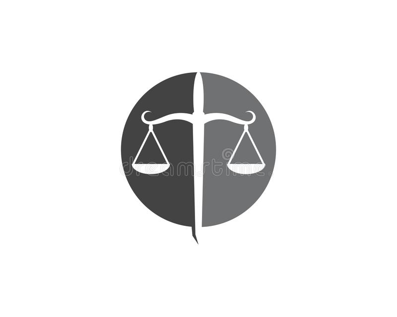 de vector van Logo Template van de rechtvaardigheidswet stock illustratie