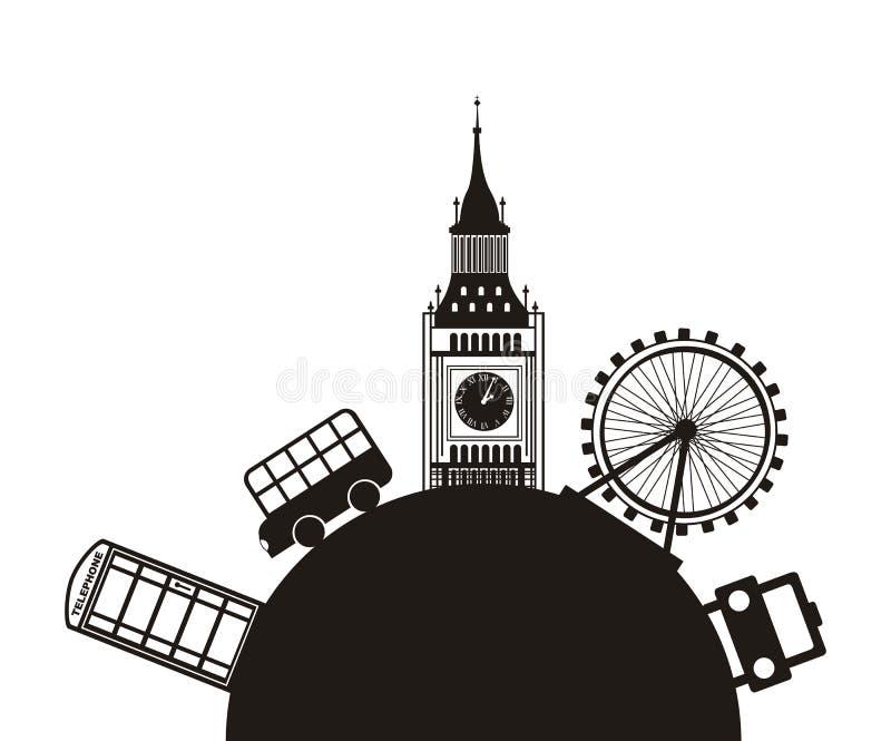 De vector van Londen vector illustratie