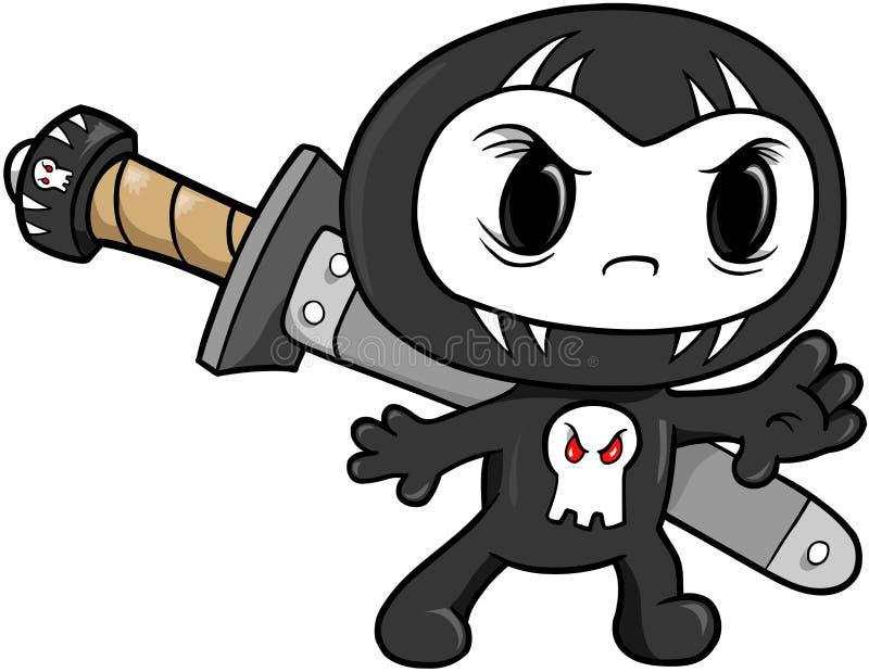 De Vector van Ninja van de schedel stock illustratie
