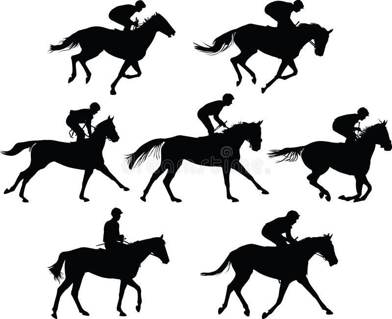 De vector van de paardmanege royalty-vrije illustratie