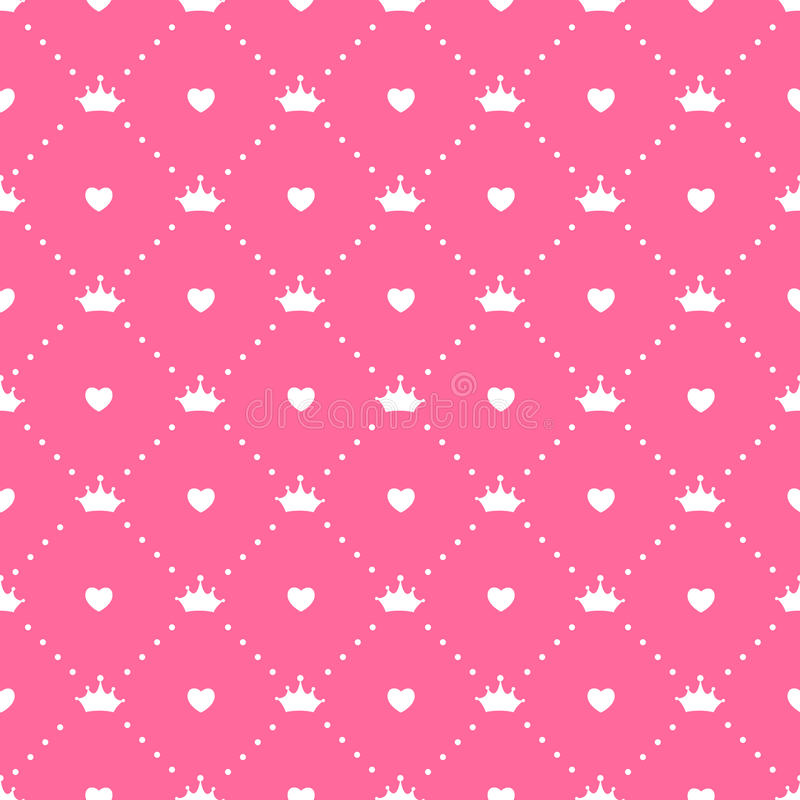 De Vector van prinsesseamless pattern background royalty-vrije illustratie