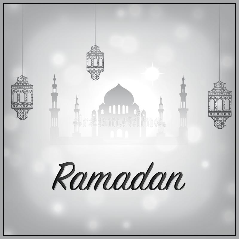 De vector van de Ramadanvakantie, Ramadan kareem op witte achtergrond royalty-vrije illustratie