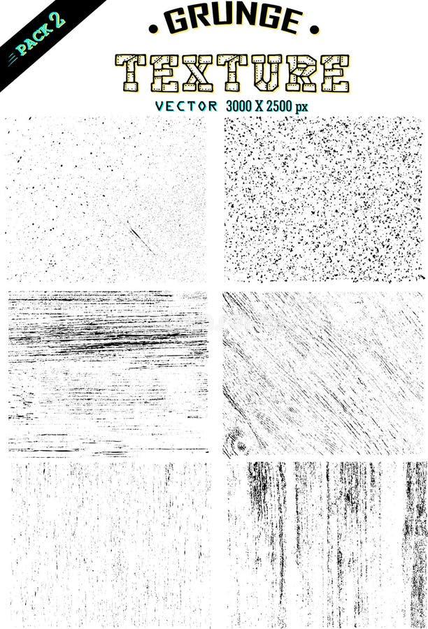 de vector van de 1 reeks grunge textuur eenvoudig en makkelijk te gebruiken stock illustratie