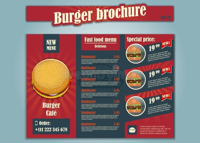 De vector van de restaurantbrochure, menuontwerp Vectorkoffiemalplaatje met hand-drawn grafisch royalty-vrije illustratie
