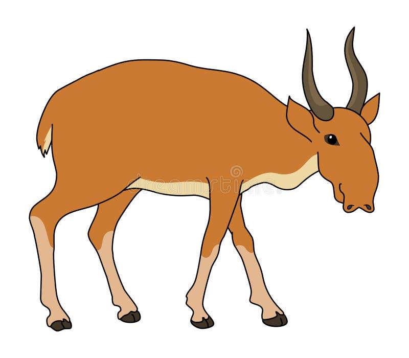 De vector van de Saigaillustratie stock illustratie