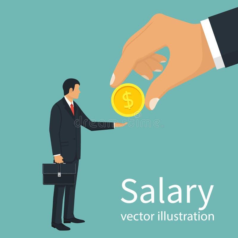 De vector van de salaristijd royalty-vrije illustratie