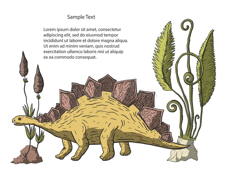 De vector van de Stegosaurusdinosaurus vector illustratie