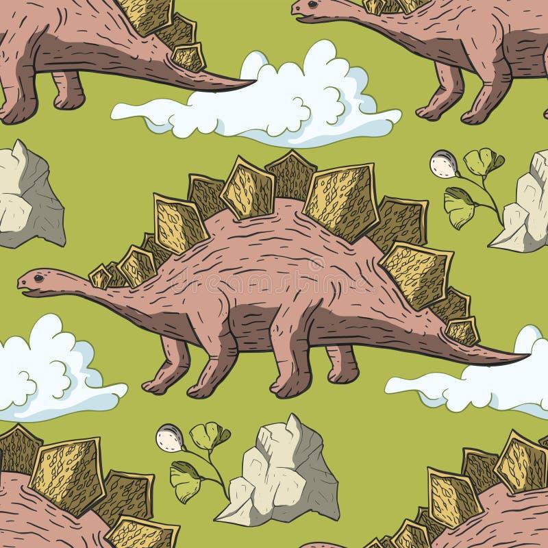 De vector van de Stegosaurusdinosaurus stock illustratie