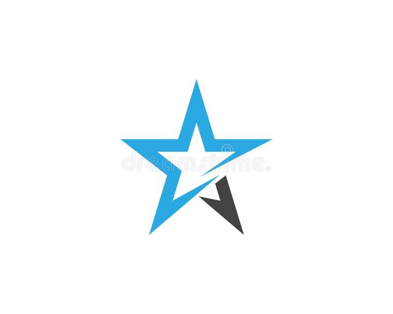 De vector van sterlogo template stock illustratie