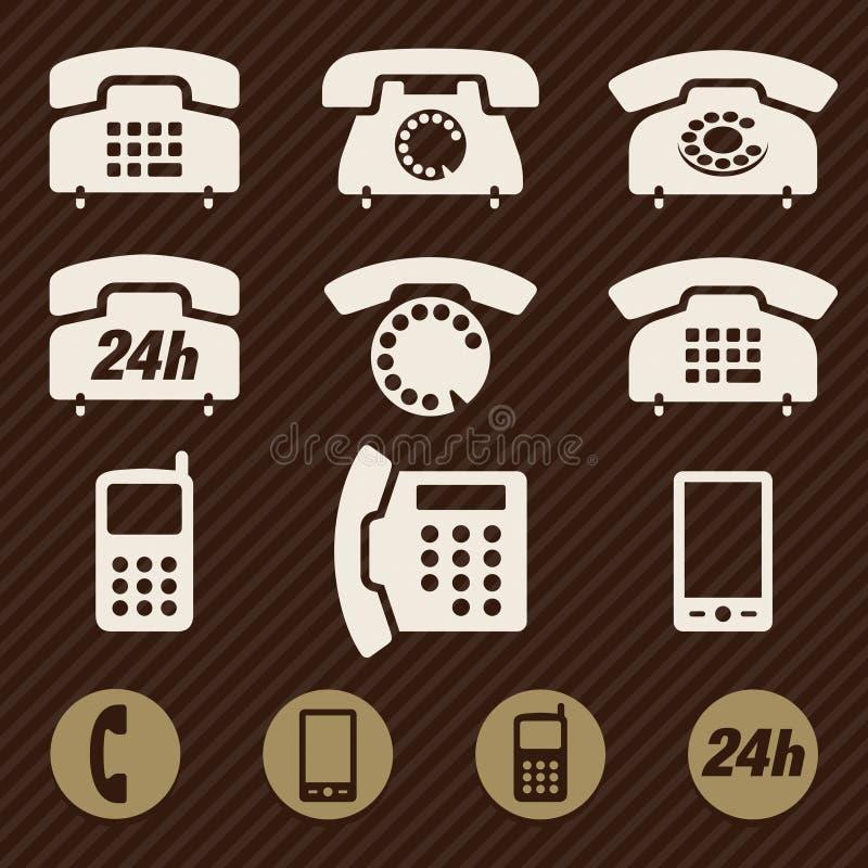 De vector van telefoonpictogrammen royalty-vrije illustratie
