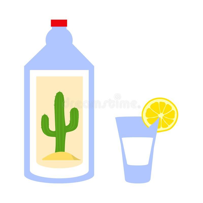 De vector van de Tequilafles vector illustratie