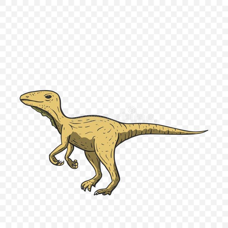 De vector van de Theropoddinosaurus stock illustratie