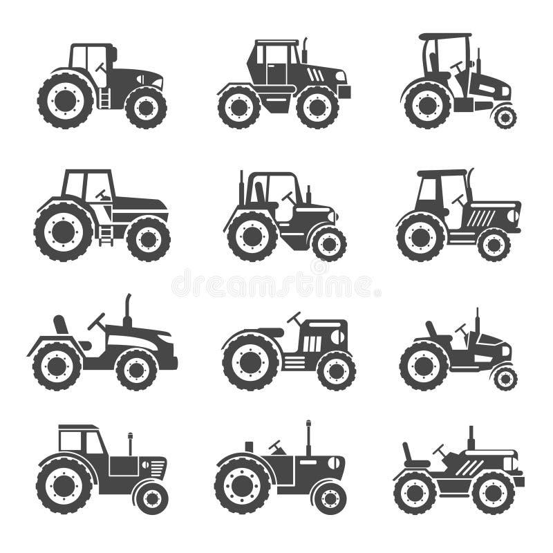 De vector van tractorpictogrammen stock illustratie