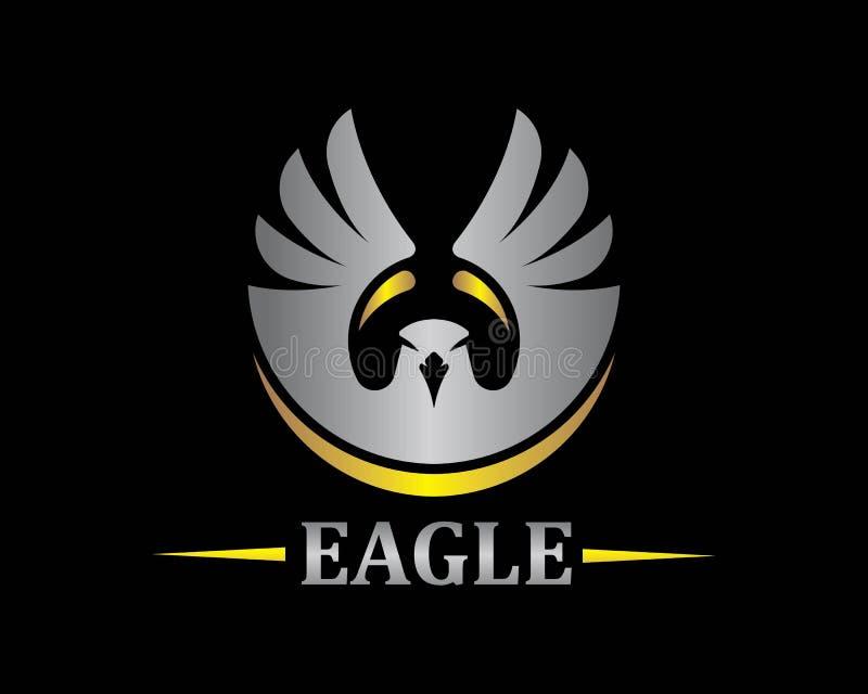 De vector van valkeagle bird logo template royalty-vrije illustratie