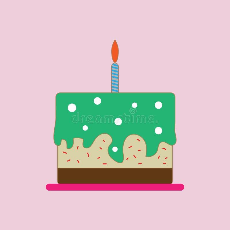 De Vector van de verjaardagscake stock illustratie
