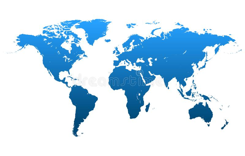De Vector van de wereldkaart stock illustratie