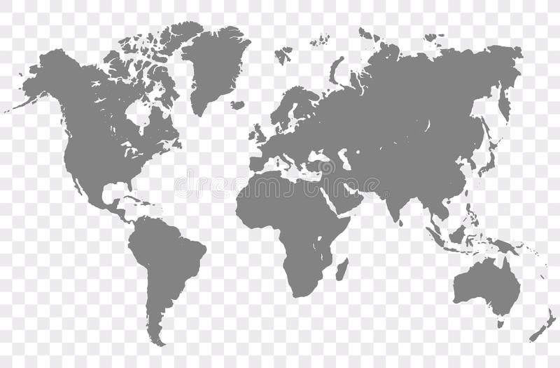 De Vector van de wereldkaart royalty-vrije illustratie
