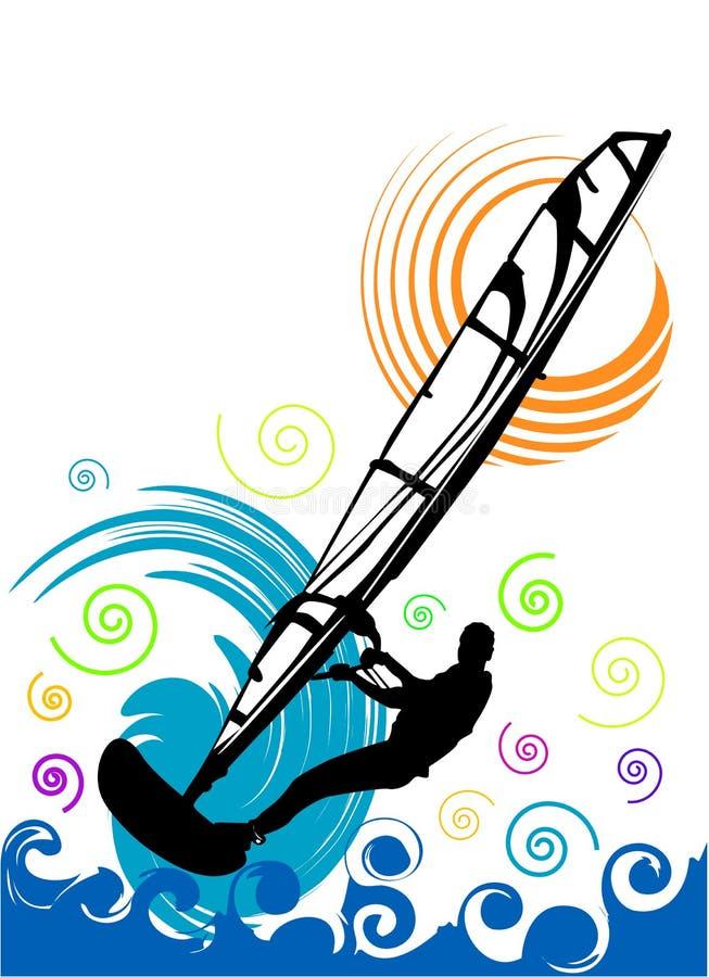 De vector van Windsurfing vector illustratie