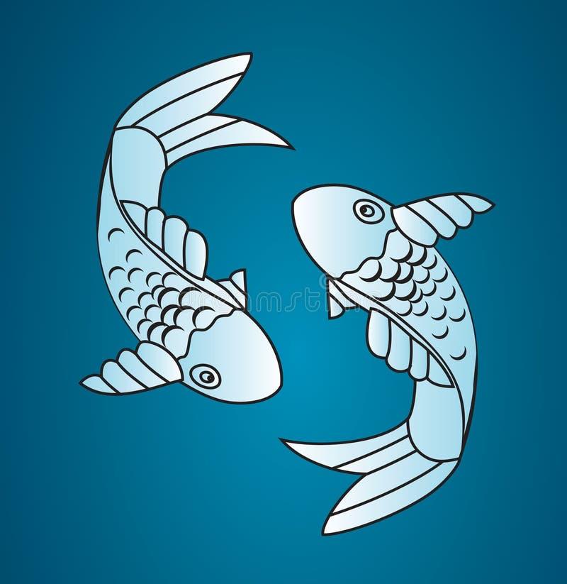 De vector vissen van Japan vector illustratie