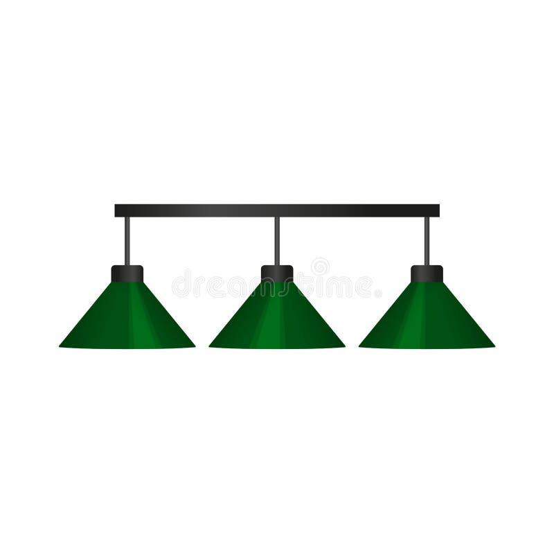 De vector vlakke lamp van het beeldverhaal groene biljart vector illustratie