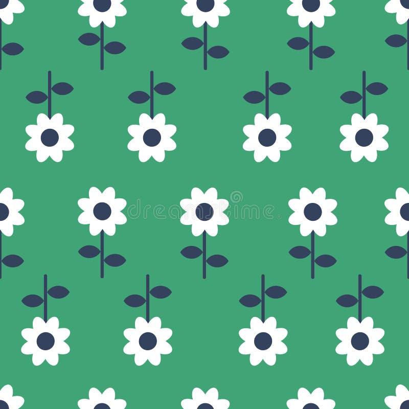 De vector Volksachtergrond van het kunst naadloze patroon - Skandinavische, Noordse stijl vector illustratie