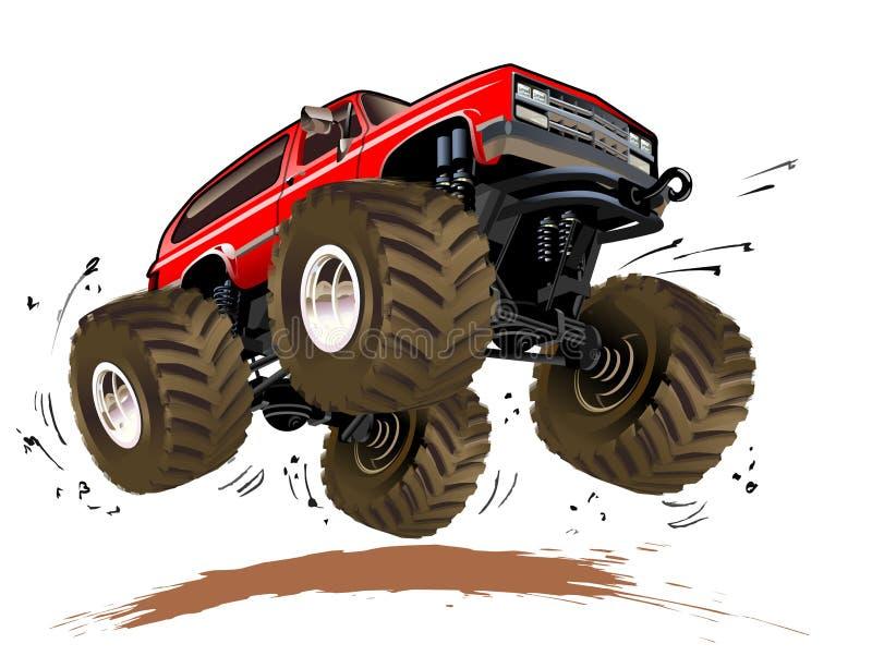 De Vrachtwagen van het Monster van het beeldverhaal vector illustratie