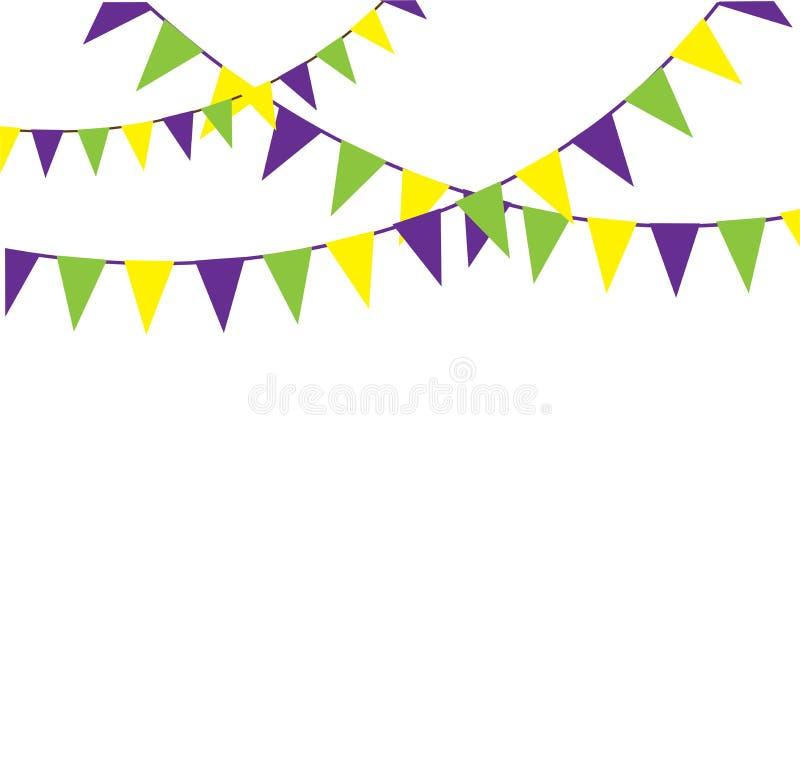 Download De Vector Witte Achtergrond Van Mardi Gras Bunting Isolated On Vector Illustratie - Illustratie bestaande uit naald, symbool: 107705682