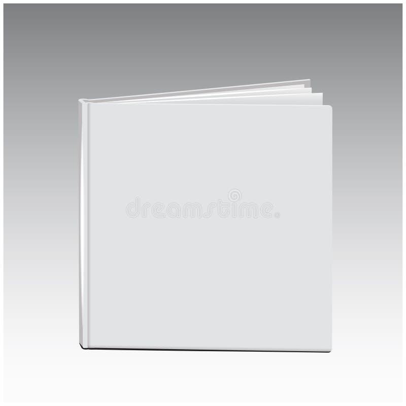 De vector witte lege dekking van het boekmalplaatje, die zich op vloer bevinden royalty-vrije illustratie
