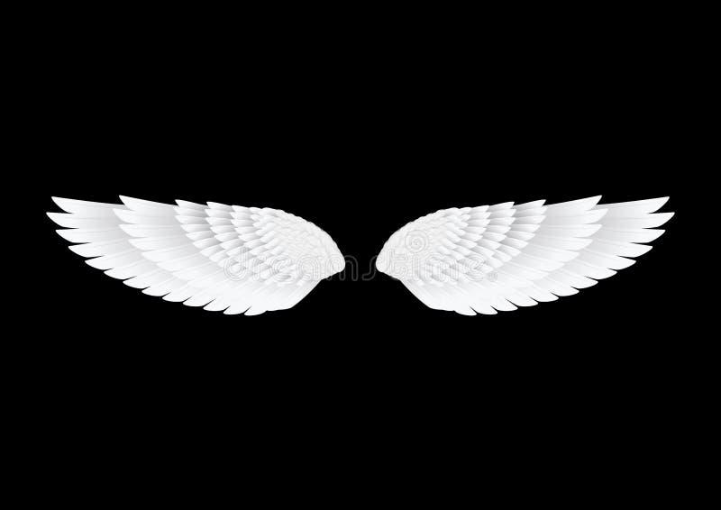 De vector witte vleugels stock foto