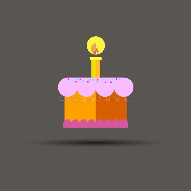 De vector zoete viering van de het dessertroom van de cakeverjaardag royalty-vrije illustratie