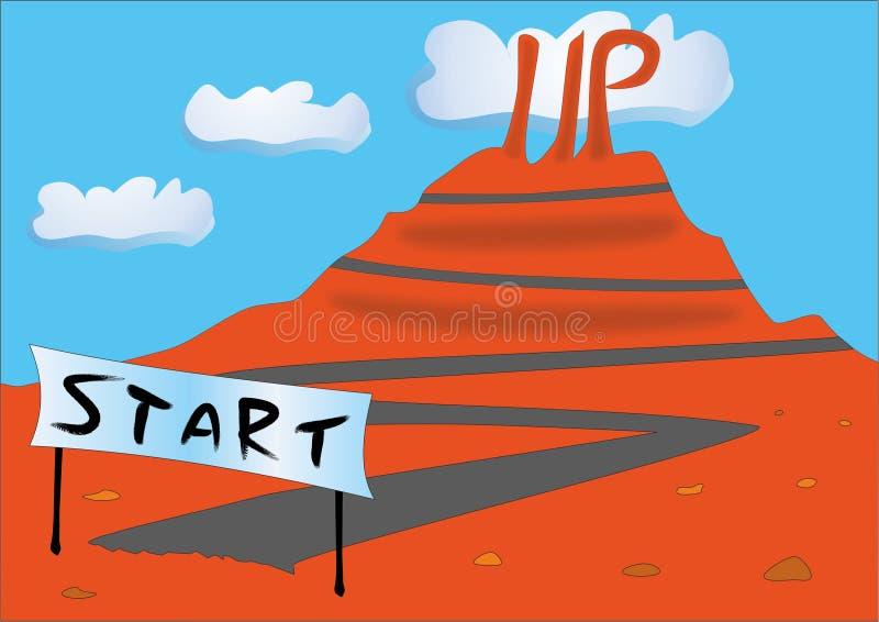 De vectoraard start van de bedrijfsconceptenmetafoor stock illustratie
