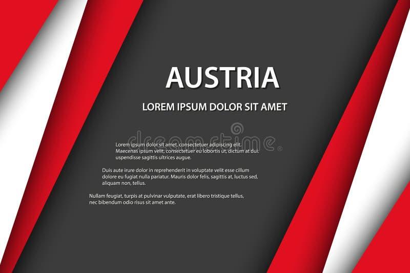 De vectorachtergrond met Oostenrijkse kleuren en vrije grijze ruimte voor uw tekst, Oostenrijkse vlag, maakte in Oostenrijk, Oost royalty-vrije illustratie