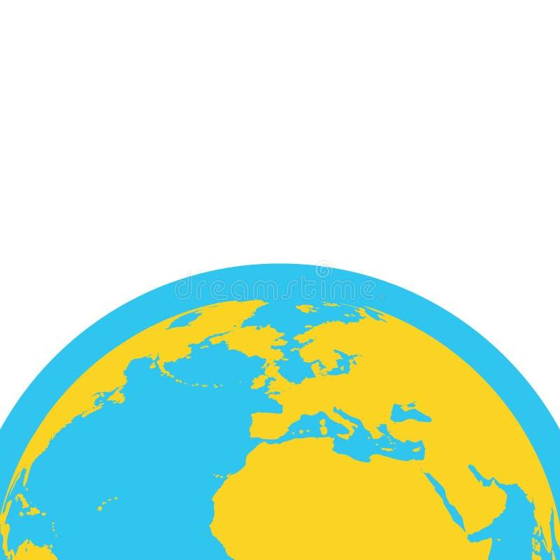 De vectorachtergrond van de aardaarde vector illustratie