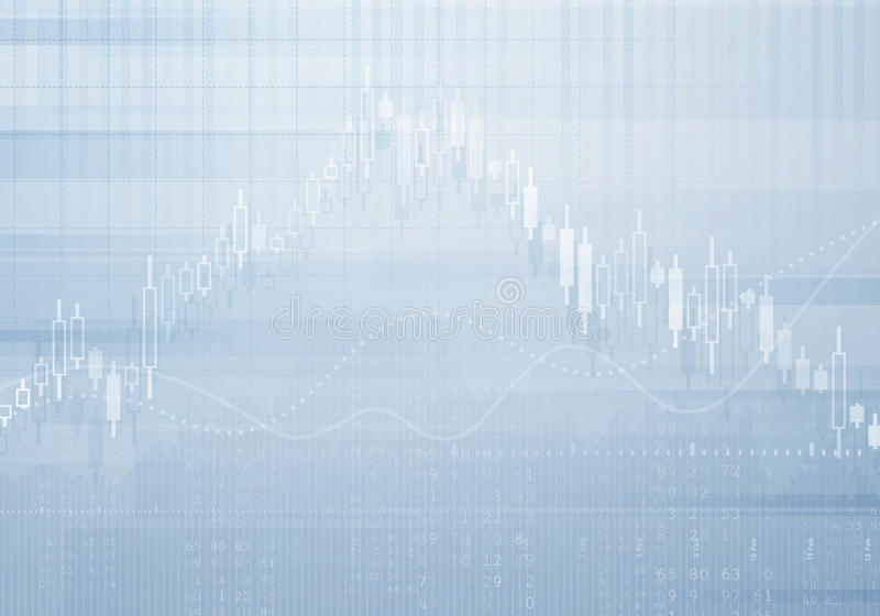 De vectorachtergrond van de bankzakengrafiek Investering en economieconcept met financiële grafiek stock illustratie
