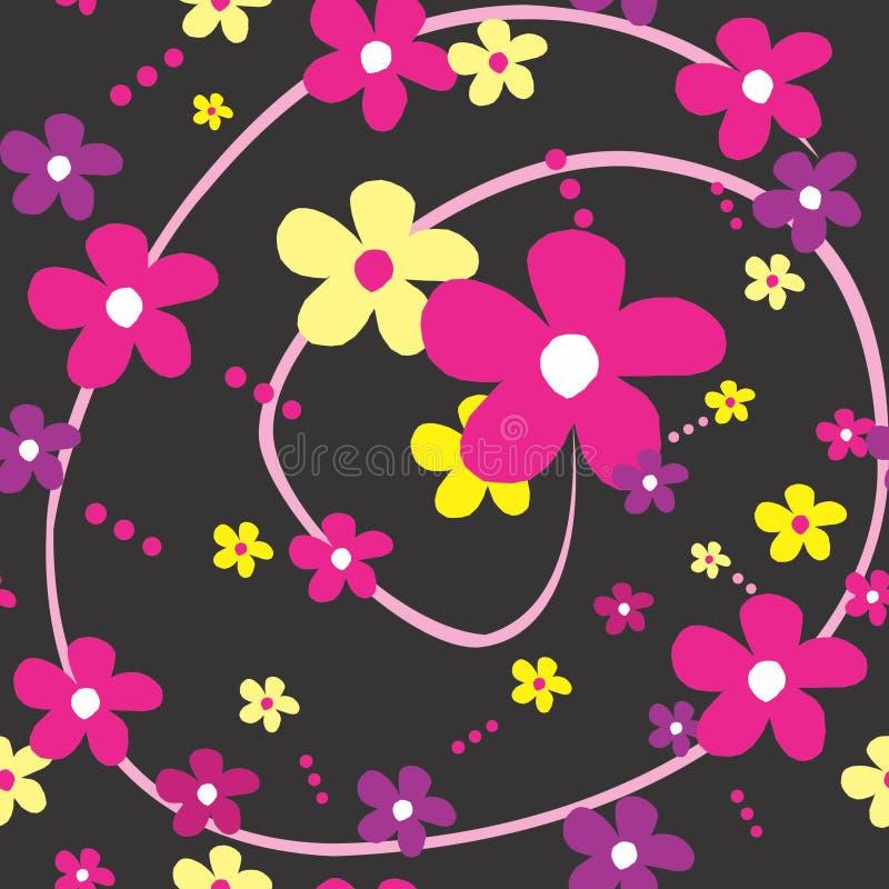 De vectorachtergrond van de megenta gele purpere bloem royalty-vrije stock fotografie