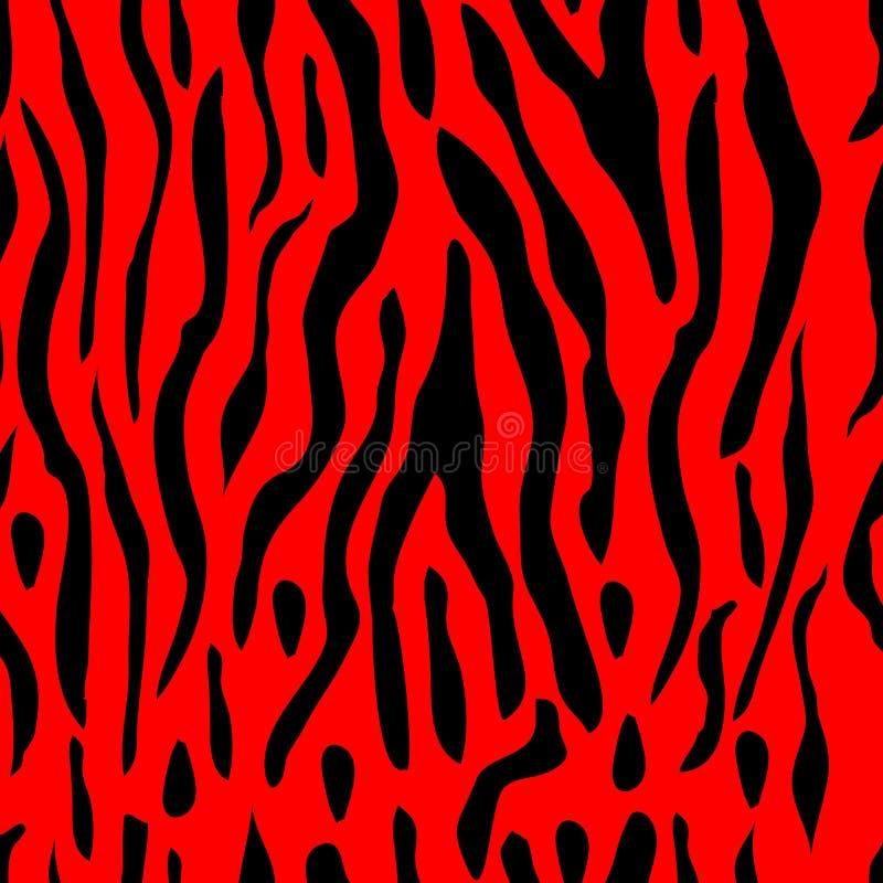 De VectorAchtergrond van de Streep van de tijger royalty-vrije illustratie