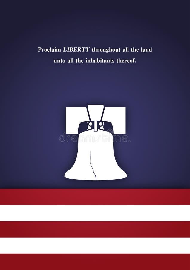 De vectorachtergrond van de vrijheidsklok. royalty-vrije illustratie