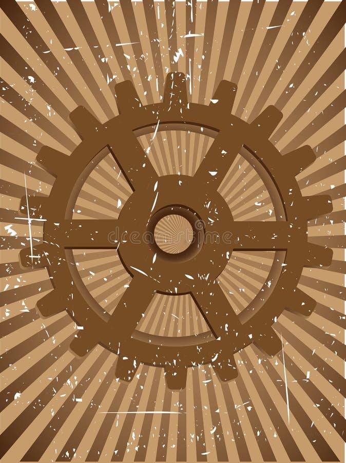 De VectorAchtergrond van Grunge Steampunnk van het toestel vector illustratie