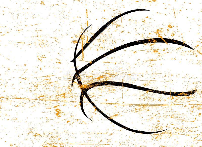 De vectorachtergrond van het basketbal vector illustratie