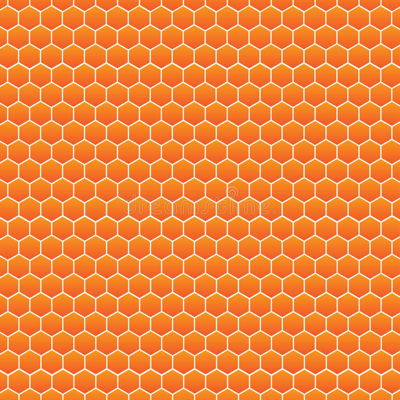 De vectorachtergrond van het bijenkorfpatroon stock illustratie