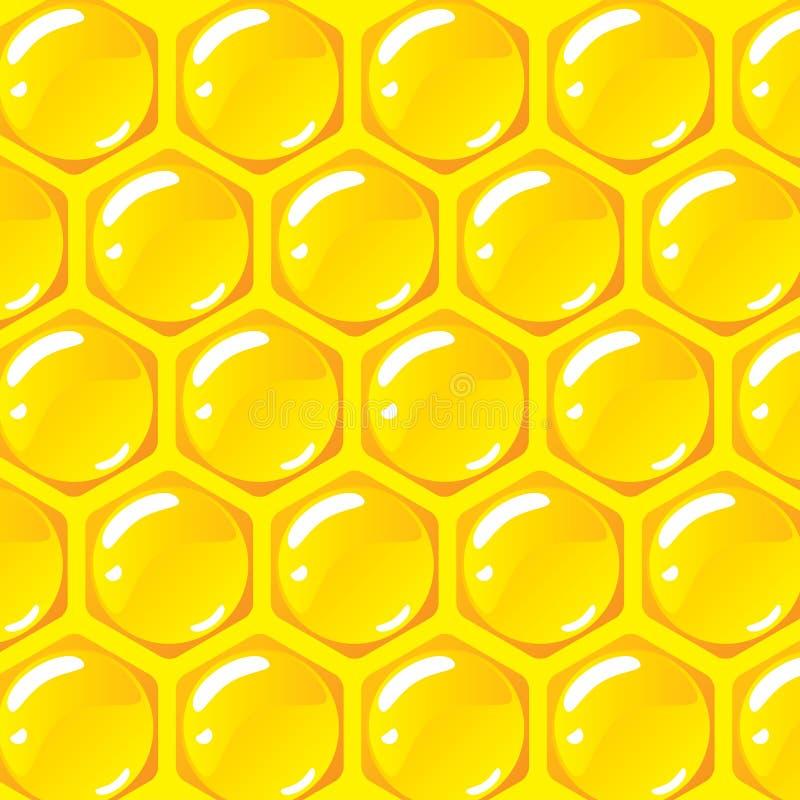 De vectorachtergrond van het bijenkorfpatroon vector illustratie