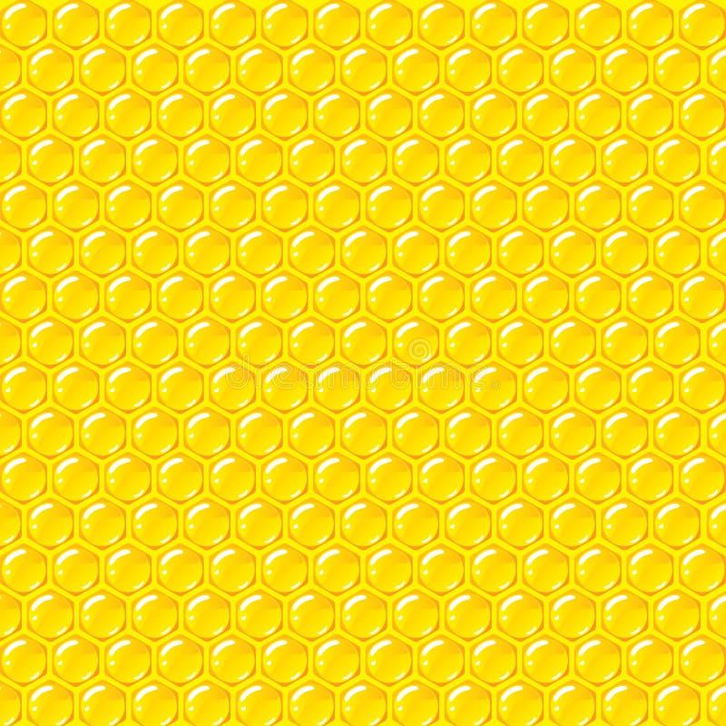 De vectorachtergrond van het bijenkorfpatroon royalty-vrije illustratie
