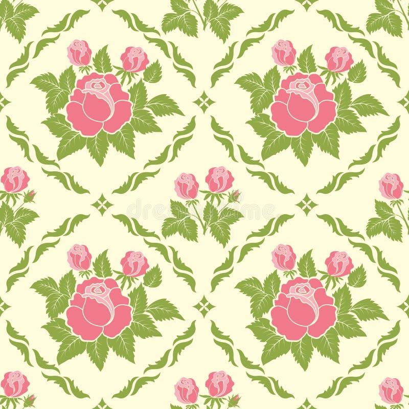 De vectorachtergrond van het bloem naadloze patroon Elegante textuur voor achtergronden vector illustratie